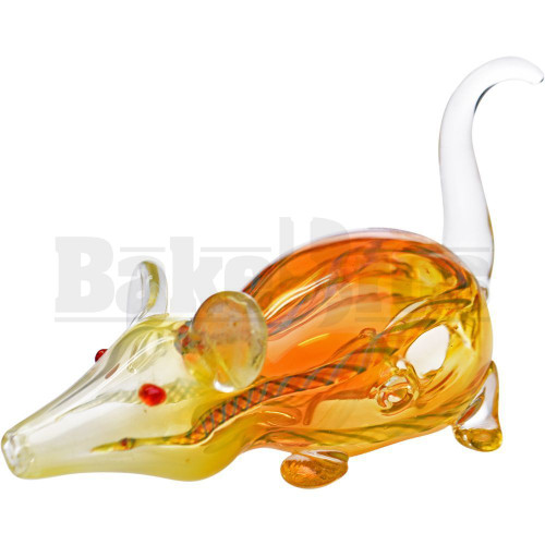 """ANIMAL HAND PIPE CURIOUS MOUSE 5"""" ASSORTED COLORS"""