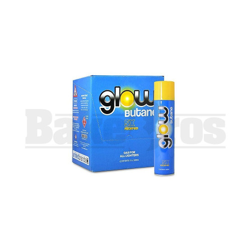 GLOW BUTANE CANISTERS 5X FILTERED Pack of 12 300 ML