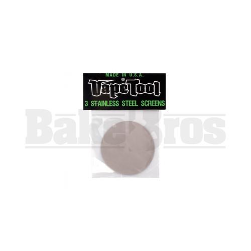 """VAPETOOL STAINLESS STEEL SCREENS 4.0"""" DIAMETER / 3 SCREENS STEEL Pack of 1"""
