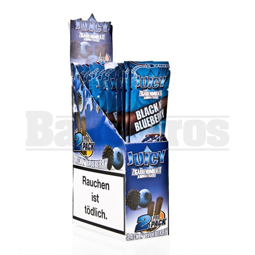JUICY JAY'S DOUBLE 2 WRAPS BLACK N' BLUEBERRY Pack of 25