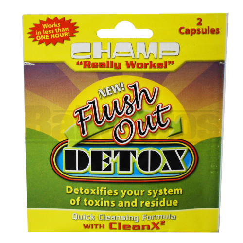 CHAMP FLUSH OUT DETOX CLEANSING CAPS UNFLAVORED 2 CAPSULES
