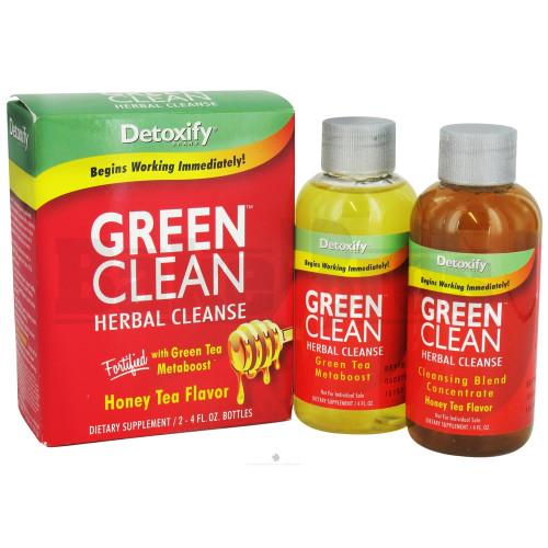 DETOXIFY GREEN CLEAN HERBAL CLEANSE HONEY TEA 2X 4 FL OZ