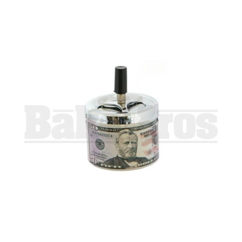 ASHTRAY WITH LID FANCY CURRENCY ASSORTED DESIGN