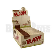 RAW ROLLING PAPERS ORGANIC KING SIZE SLIM 32 LEAVES UNFLAVORED Pack of 50