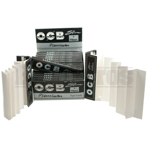 OCB PREMIUM ROLLING PAPERS 50 LEAVES UNFLAVORED Pack of 25