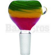 BOWL HEAVY GLASS RASTA RASTA 14MM