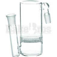 ASHCATCHER HONEYCOMB DISK PERC 45* ANGLED JOINT S CONFIG CLEAR MALE 14MM