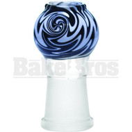 DOME VAPOR WIG-WAG ART DESIGN BLACK WHITE 18MM