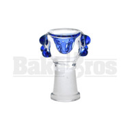FEMALE BOWL SPHERE HEAD GRIP DOTS FULL MELT BLUE 14MM