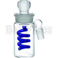ASHCATCHER COIL PERC 45* ANGLED JOINT BLUE MALE 18MM