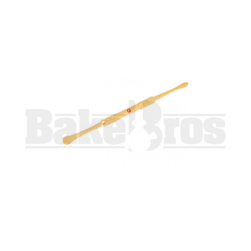 FULL MELT METAL DABBER TOOL FAUX COATING WITH G SYMBOL GOLD 5""