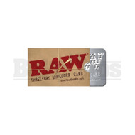 RAW THREE WAY SHREDDER GRINDER CARDS RAW Pack of 1