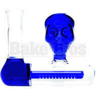 ASHCATCHER INLINE PERC SKULL FACE DESIGN 45* ANGLED JOINT BLUE MALE 18MM