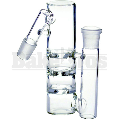 "ASHCATCHER 1.5"" DIAM 3X TURBINE DISK PERC L CONFIG 45* ANGLE JOINT CLEAR MALE 14MM"