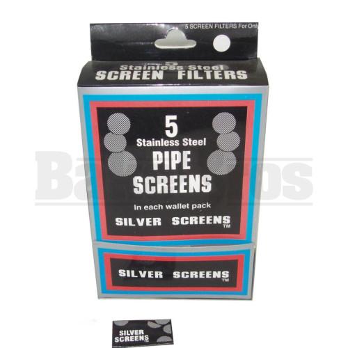 """5 PIPE SCREENS IN EACH WALLET PACK 0.800"""" STEEL Pack of 100"""