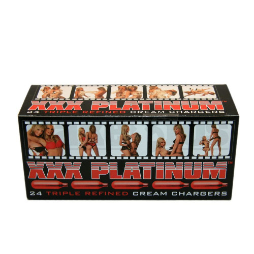 XXX PLATINUM TRIPLE REFINED CREAM CHARGERS N2O ASSORTED Pack of 24 8 GRAM