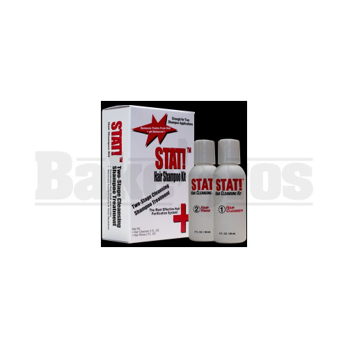 STAT! HAIR SHAMPOO KIT 2-STAGE TREATMENT CLEANSER & RINSE UNFLAVORED 2- 2  FL OZ