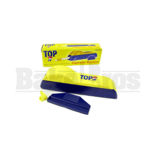 TOP PREMIUM CIGARETTE INJECTOR BLUE YELLOW Pack of 6 100MM
