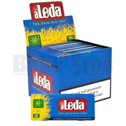 ALEDA THE ORIGINAL ONE TRANSPARENT PAPERS EXTRA SLIM BLUE SIZE UNFLAVORED Pack of 30
