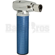 VECTOR MINITRO BUTANE TORCH 2 FLAME ADJUSTABLE METALLIC BLUE Pack of 1 6""