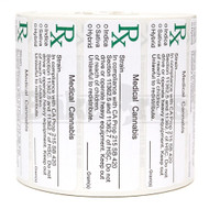 RX MEDICAL CANNABIS W/ STRAIN CALIFORNIA Pack of 1 1000 Per Pack