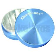 """SHARPSTONE HARD TOP GRINDER 2 PIECE 2.2"""" BLUE Pack of 1"""