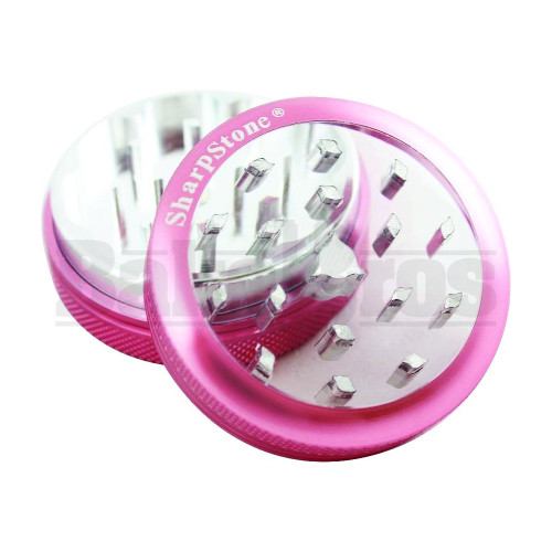 "SHARPSTONE CLEAR TOP GRINDER 2 PIECE 2.2"" PINK Pack of 1"