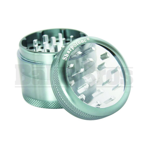 """SHARPSTONE CLEAR TOP GRINDER 4 PIECE 2.2"""" GRAY Pack of 1"""