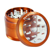"""SHARPSTONE CLEAR TOP GRINDER 4 PIECE 2.2"""" BROWN Pack of 1"""