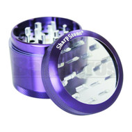 "SHARPSTONE CLEAR TOP GRINDER 4 PIECE 2.2"" PURPLE Pack of 1"