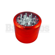 "SHARPSTONE CLEAR TOP GRINDER 4 PIECE 2.2"" RED Pack of 1"