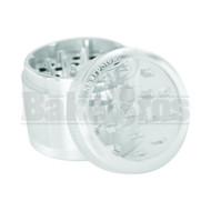 "SHARPSTONE CLEAR TOP GRINDER 4 PIECE 2.2"" SILVER Pack of 1"