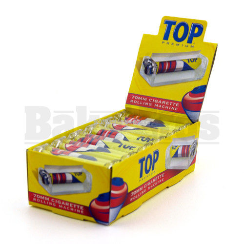 TOP PREMIUM CIGARETTE ROLLING MACHINE YELLOW Pack of 1 70MM