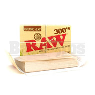 RAW 300's ROLLING PAPERS ORGANIC HEMP 1 1/4 SIZE 300 LEAVES UNFLAVORED Pack of 1