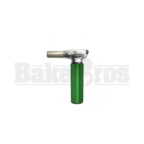"""VECTOR MINITRO BUTANE TORCH 2 FLAME ADJUSTABLE GREEN Pack of 1 6"""""""
