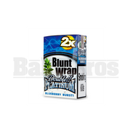 DOUBLE!! PLATINUM CIGAR WRAPS 2 PER PACK BLUEBERRY Pack of 25