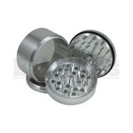 "GRINDER W/ POLLEN COLLECTOR 4 PIECE 1.25"" SILVER Pack of 1"