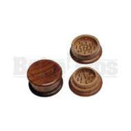 "WOODEN GRINDER 2 PIECE 3.0"" WOOD FINISHED Pack of 1"