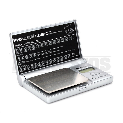 PROSCALE ELECTRONIC POCKET SCALE LCS SERIES 0.01g 100g SILVER