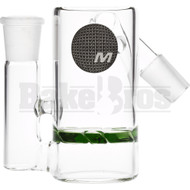 MAVERICK ASHCATCHER TURBINE DISK PERC 45* ANGLED JOINT GREEN MALE 18MM