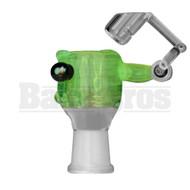 KROWN KUSH FEMALE HONEYBUCKET DRIP GLASS SLIME W/ MELEE BULB SLIME GREEN 18MM