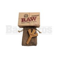 """RAW TRIDENT WOODEN PIPE 4"""" ASSORTED COLORS"""