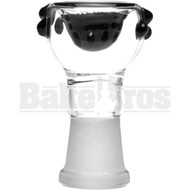 FEMALE BOWL SPHERE HEAD GRIP DOTS FULL MELT BLACK 14MM