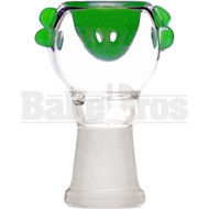 FEMALE BOWL SPHERE HEAD GRIP DOTS FULL MELT GREEN 14MM
