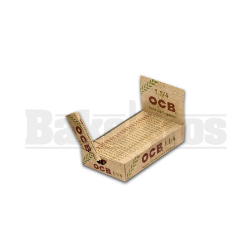 OCB ORGANIC HEMP UNBLEACHED ROLLING PAPERS 1 1/4 UNFLAVORED Pack of 24