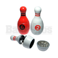 POLLEN GRINDER BOWLING PIN DESIGN ASSORTED COLORS Pack of 1