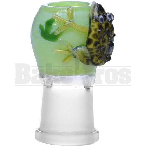 "EMPIRE DOME POISONOUS TOAD ART DESIGN 2"" KEY LIME GREEN 18MM"