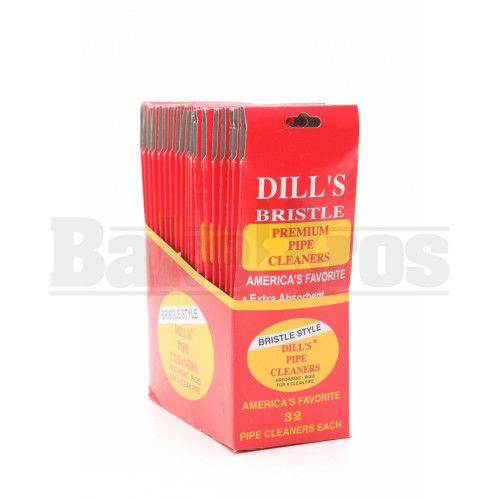 DILL'S PREMIUM PIPE CLEANERS 32 PER PACK HARD TAN Pack of 20