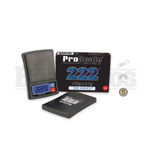 PROSCALE THE DEUCE 222 CAPACITY PRECISION POCKET SCALE 0.1g 222g BLACK