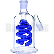 ASHCATCHER COIL PERC ANGLE JOINT BLUE MALE 18MM